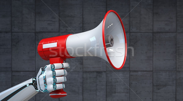 Robot Hand Bullhorn Stock photo © limbi007