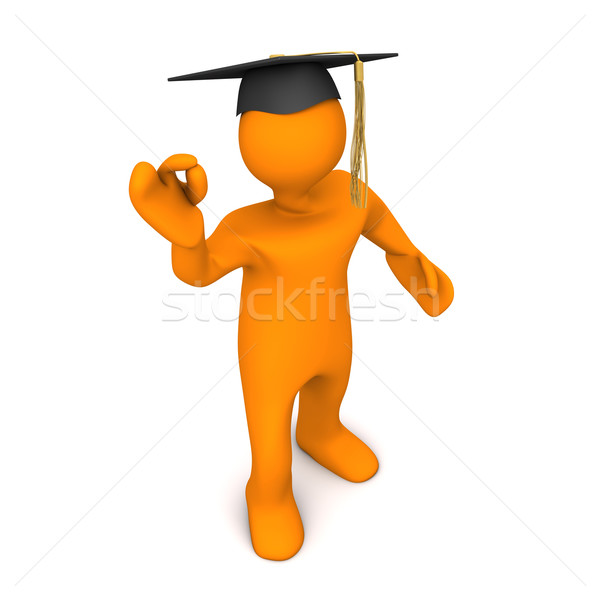 Pós-graduação preto super laranja graduação Foto stock © limbi007
