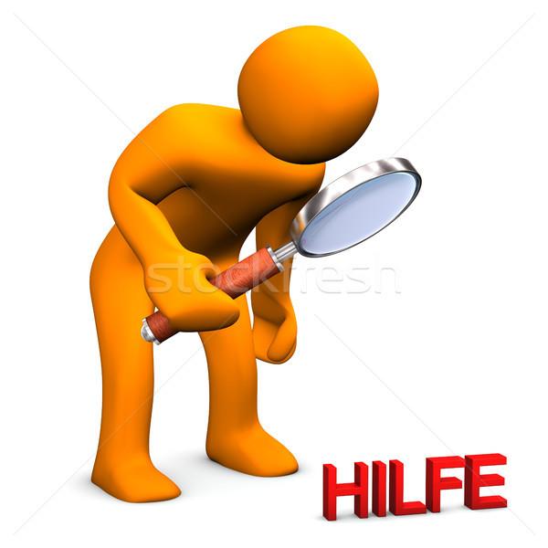 Suche Hilfe Stock photo © limbi007