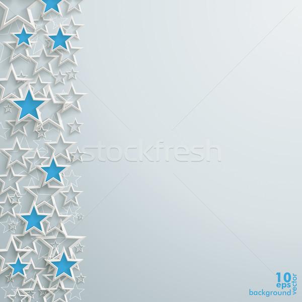Azul blanco estrellas Navidad diseno gris Foto stock © limbi007