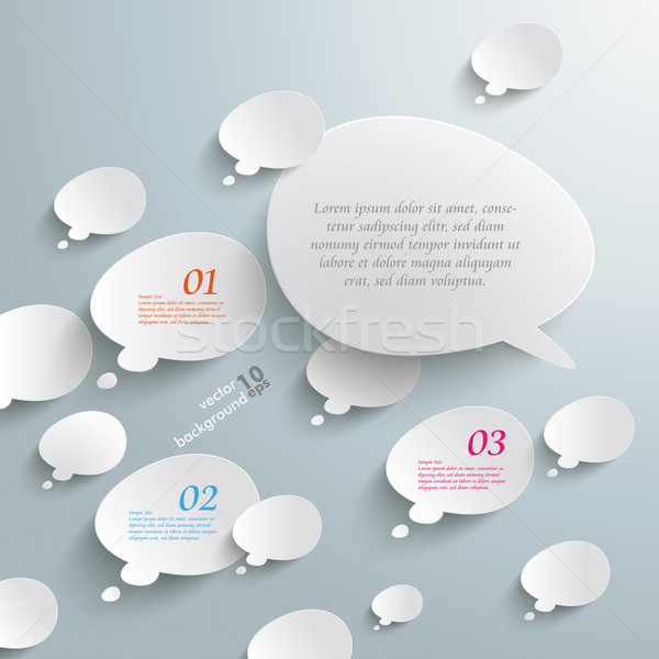 Bevel Speech And Thought Bubbles Opposing View Stock photo © limbi007