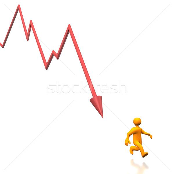 Acidente ilustração mercado de ações negócio financiar Foto stock © limbi007
