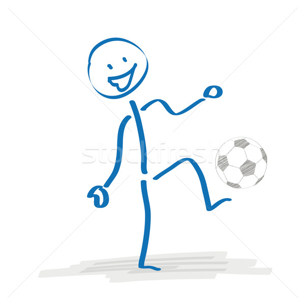 Stickman Playing Football Stock photo © limbi007