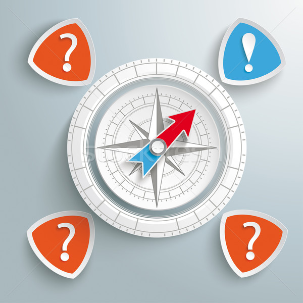 White Ring Compass Question Answer Stock photo © limbi007
