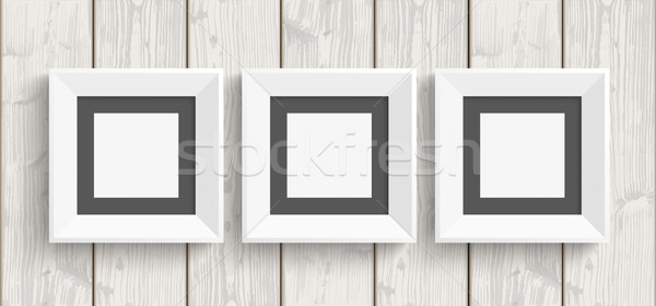 3 Picture Frames Wood Stock photo © limbi007