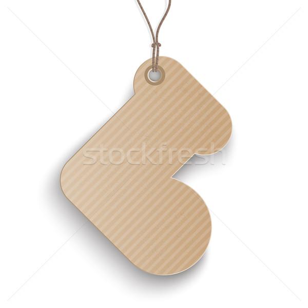Karton karácsony harisnya ár matrica karton Stock fotó © limbi007