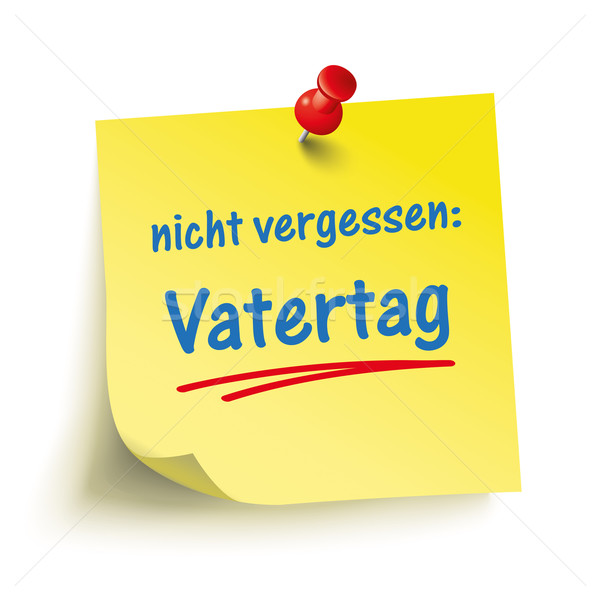 Yellow Stick Red Pin Vatertag Stock photo © limbi007