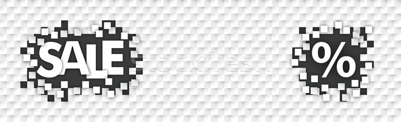 бумаги заголовок черная дыра плитки продажи Сток-фото © limbi007
