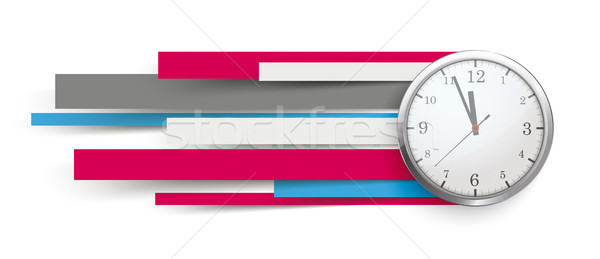 Speed Time Clock Colorful Paper Lines Header Stock photo © limbi007
