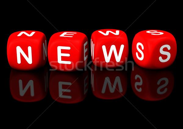 Foto stock: Notícia · vermelho · texto · preto · negócio