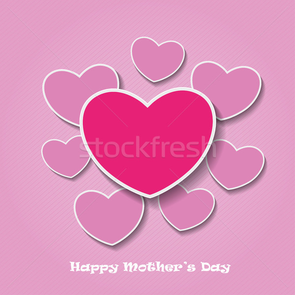 Happy Mothersday Oldpink Heartpapers Stock photo © limbi007