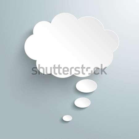 白 思考バブル インフォグラフィック デザイン グレー eps ストックフォト © limbi007
