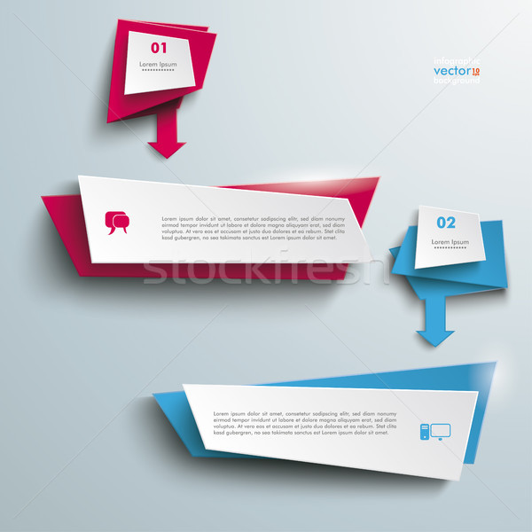 Leaflet Banners With Arrows 2 Options Stock photo © limbi007