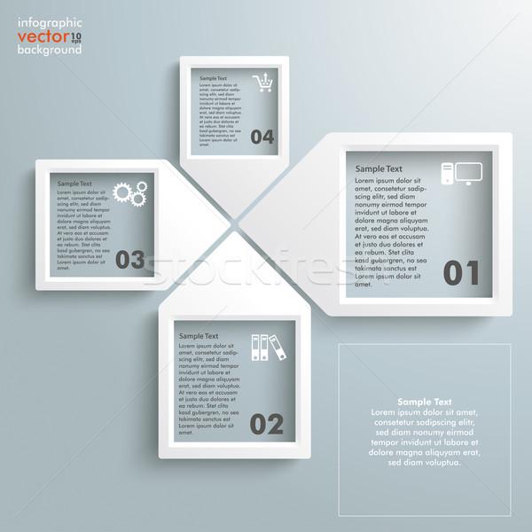 Paper Infographic Arrowframes 4 Options Stock photo © limbi007