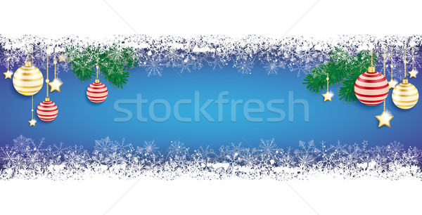 Сток-фото: долго · синий · удвоится · снега · баннер