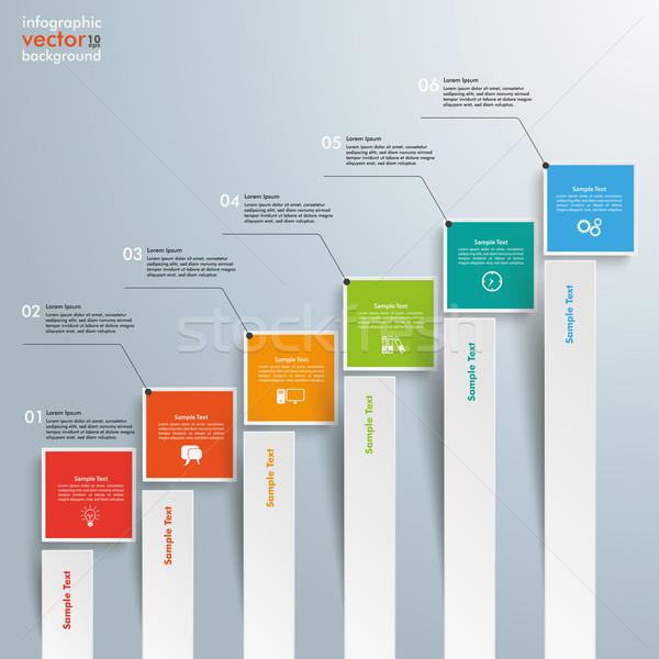 диаграммы роста баров серый прибыль на акцию Сток-фото © limbi007
