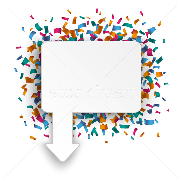 Rectangle Arrow Pointer Confetti  Stock photo © limbi007