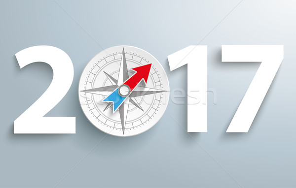 2017 Compass Stock photo © limbi007