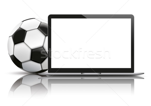 Notebook Football Mockup Mirror Stock photo © limbi007