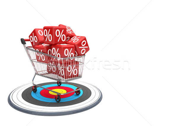 Shopping Cart Discount Target Stock photo © limbi007