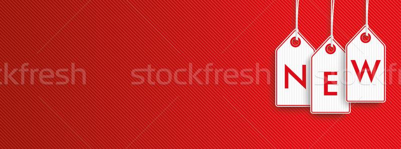 Hanging Price Stickers New Header Stock photo © limbi007