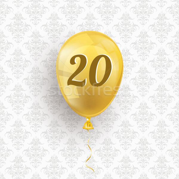 Golden Balloon 20 Ornaments Wallpaper Stock photo © limbi007