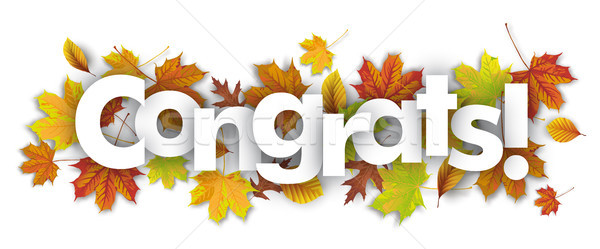 Congrats Autumn Foliage Stock photo © limbi007