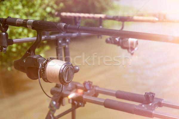 Fishing Rods On The Rod Pod Stock photo © limbi007