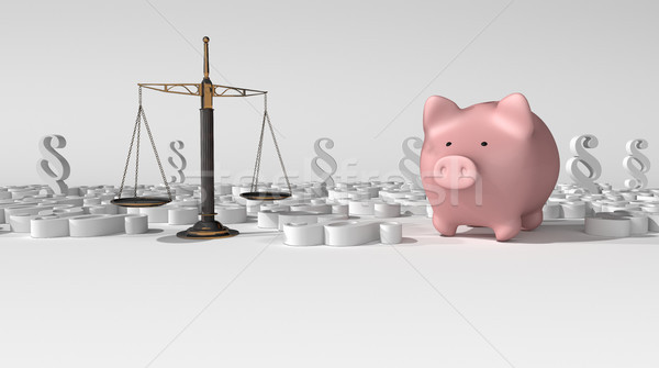 Paragraphs Beam Balance Law Piggy Bank Stock photo © limbi007