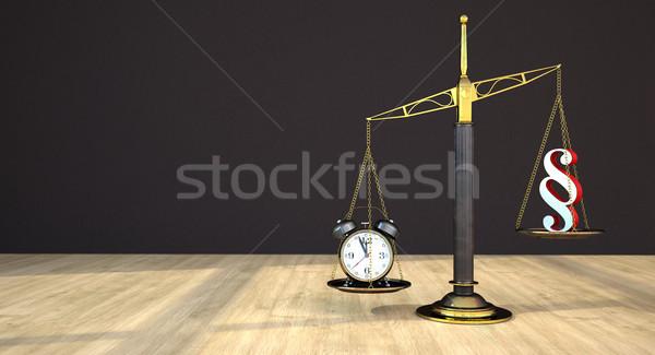 Strahl Gleichgewicht Absatz Tabelle 3D-Darstellung ansehen Stock foto © limbi007
