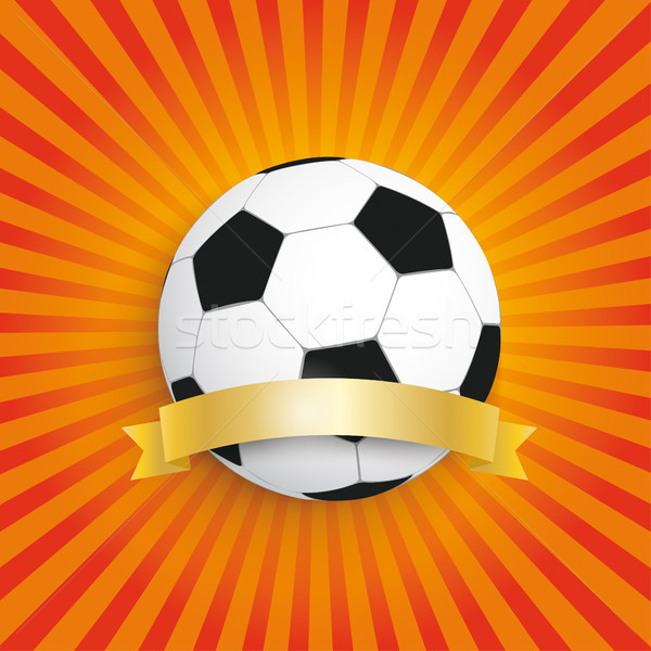 Football Retro Sun Golden Flag Stock photo © limbi007