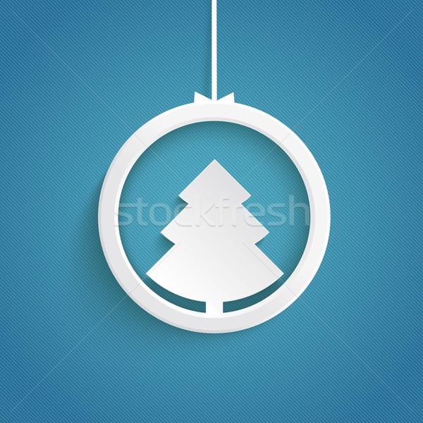 Christmas Tree Ring Blue Background Stock photo © limbi007