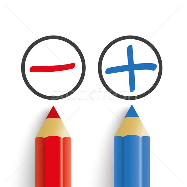 赤 青 ペン リスト 白 eps ストックフォト © limbi007
