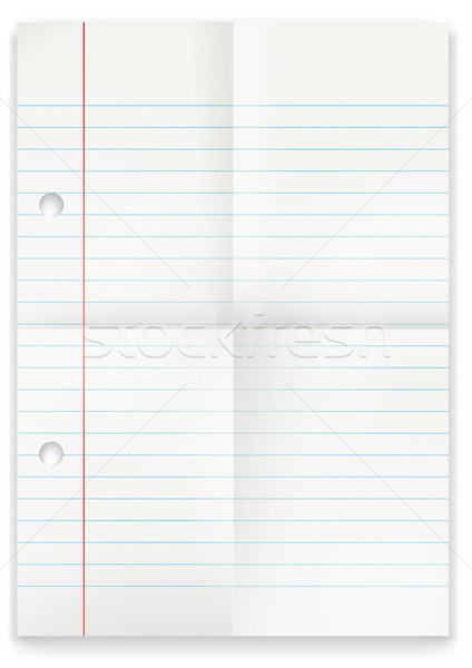 Lined Folded Paper Stock photo © limbi007