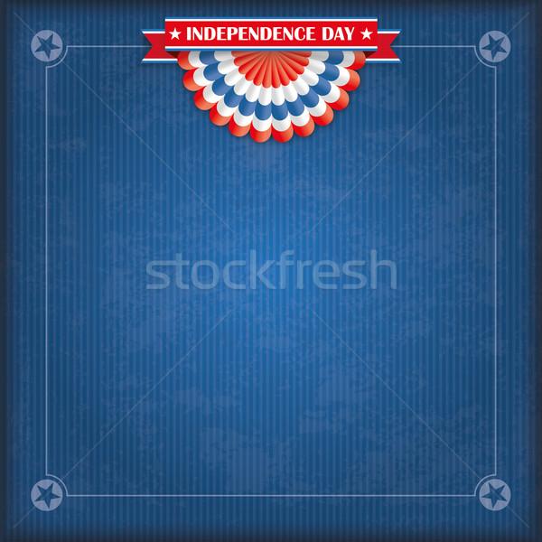 Vintage USA Flag Bunting Independence Day Stock photo © limbi007