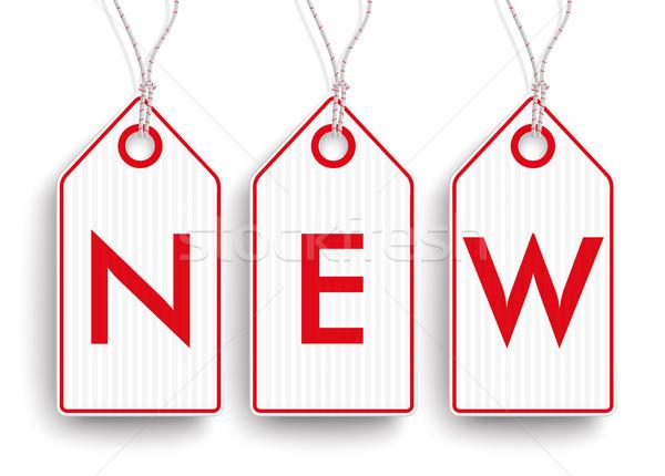 3 Carton Hanging Picked Price Stickers New SH Stock photo © limbi007