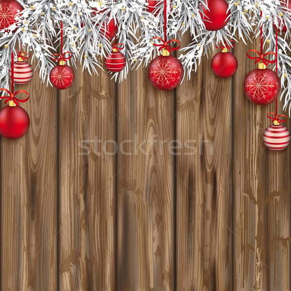 Natale legno legno eps Foto d'archivio © limbi007