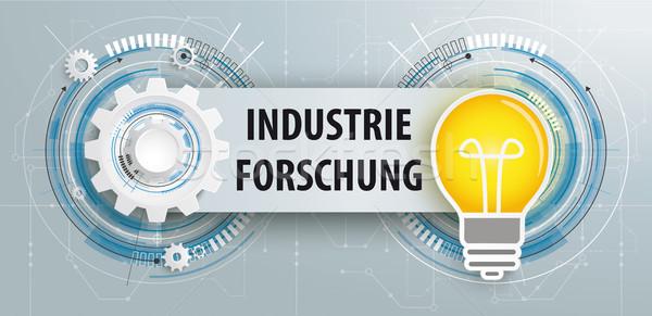 Gear Bulb Circuit Board Banner Industrie Forschung Stock photo © limbi007