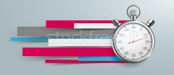 Speed Time Stopwatch Colorful Paper Lines Header Stock photo © limbi007
