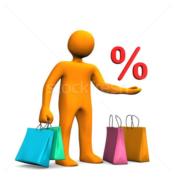 Compras venda laranja colorido Foto stock © limbi007