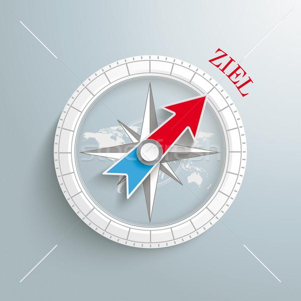 Stock photo: Compass Ziel