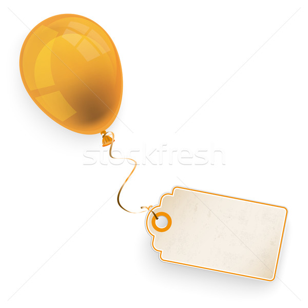 Orange Balloon With Price Sticker Stock photo © limbi007