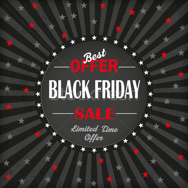 Black Friday Hole Stars Vintage Background Stock photo © limbi007
