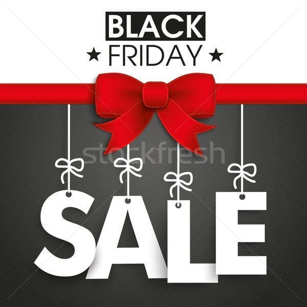 Red Ribbon Black Friday Sale Stock photo © limbi007