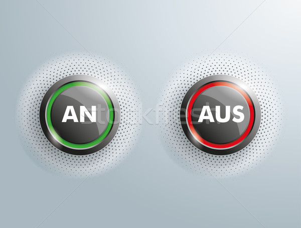 2 Buttons Business An Aus Halftone Stock photo © limbi007