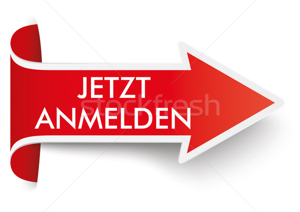 Red Convert Arrow Jetzt Anmelden Stock photo © limbi007