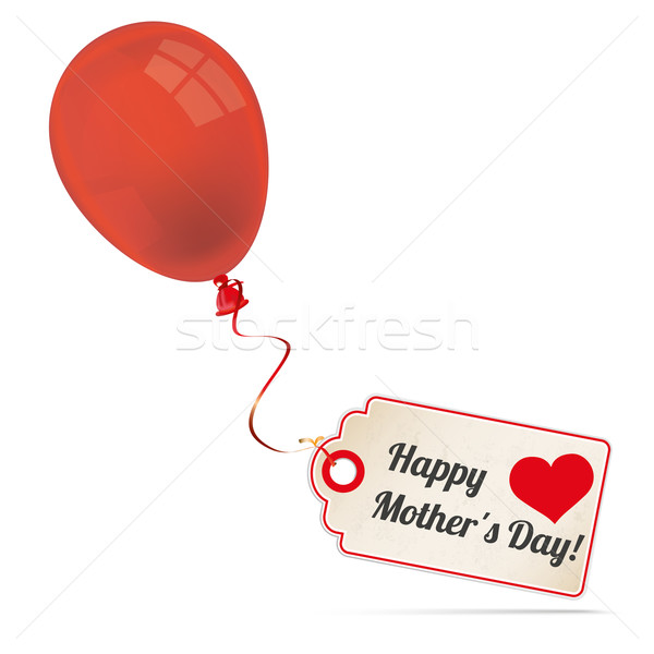 Red Balloon With Price Sticker Mothersday Stock photo © limbi007