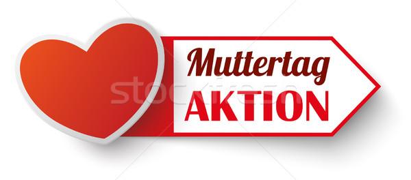 Red Marker Muttertag Aktion Stock photo © limbi007