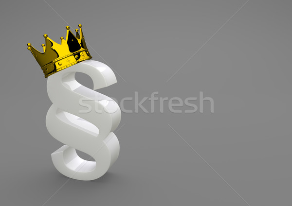 White Porcelain Paragraph With Golden Crown Stock photo © limbi007