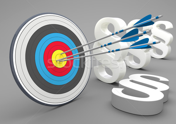 Stock photo: Target Arrow Paragraphs